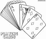 Cards Coloring Pages Playing Deck Poker Print Template Jawar Playingcards sketch template