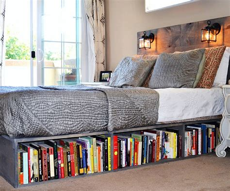 bookshelf bed frame interwebs