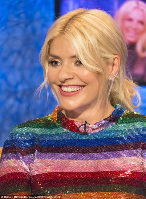 Holly Willoughby's wears very short rainbow dress for show ...