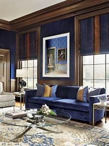 Tan, And, Blue, Living, Room, U2013, Modern, House