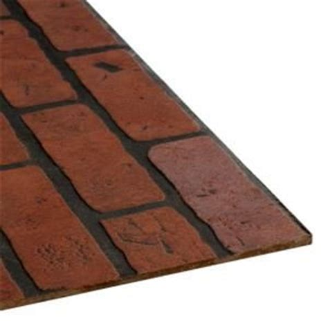floor muffler underlayment home depot 4 ft x 8 ft decorative gaslight brick panel 103735 at