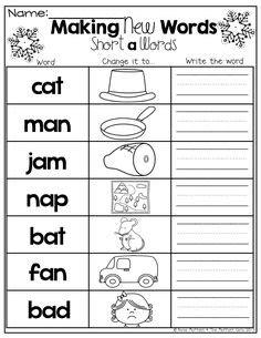 letter words images kindergarten reading