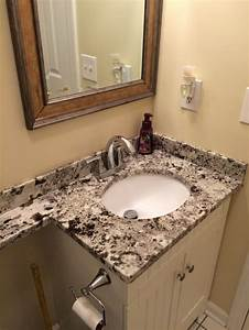 3cm Alaska White granite Banjo vanity top with a 15x12