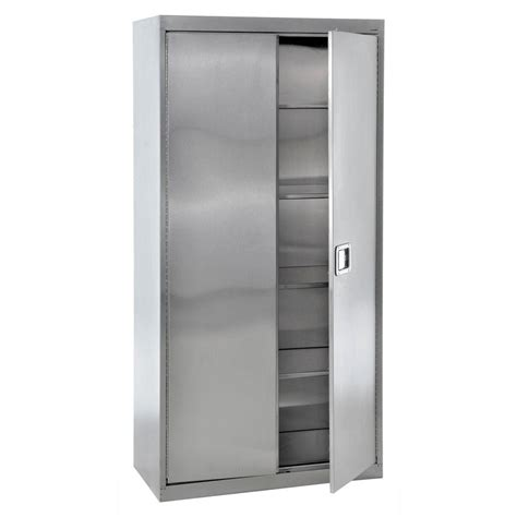 stainless steel kitchen storage cabinet sandusky 78 in h x 36 in w x 24 in 5 shelf d stainless