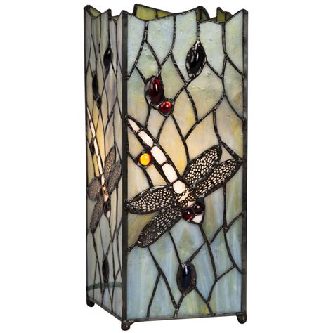 tiffany style dragonfly square table l worldstores