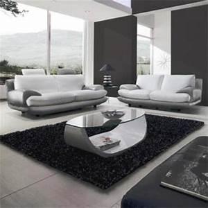 photos canape gris et blanc cuir With canape cuir gris blanc
