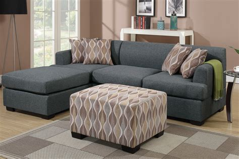 Grey Fabric Chaise Lounge  Stealasofa Furniture Outlet