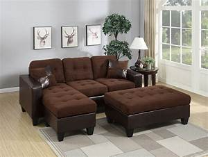 F6928 chocolate sectional sofa set by poundex for Sectional sofa names
