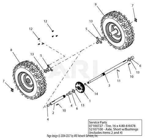 ariens   deluxe  parts diagram
