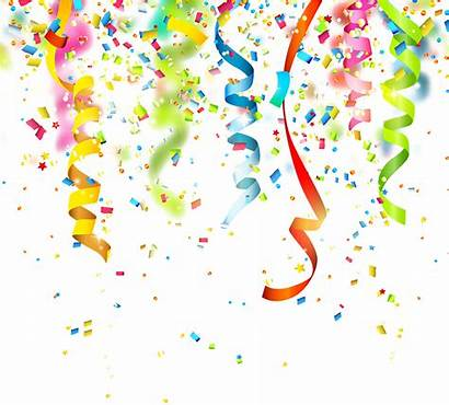 Confetti Transparent Birthday Background Clip Party Pngkey