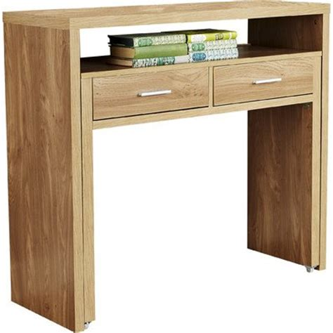 desk with slide out table modern oak console table with pull out desk and two