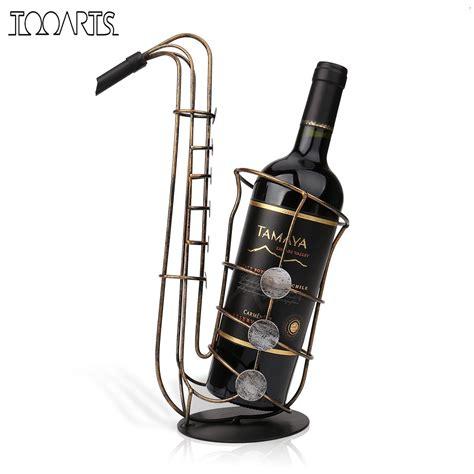 tooarts metal sax wine rack beautiful crafts artwork gift