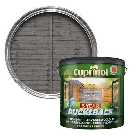 Cuprinol Ducksback Grey Shed & Fence Treatment 9L