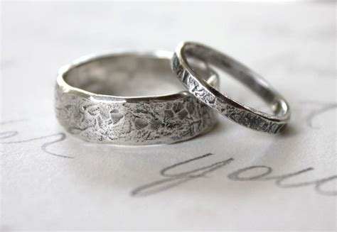 Crown Double Band Silver Wedding Rings For Couple