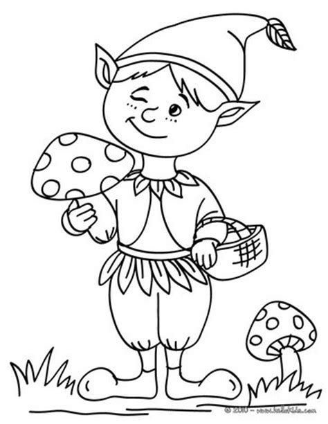 desenhos  colorir de desenho de um elfo piscando  olho  colorir pthellokidscom