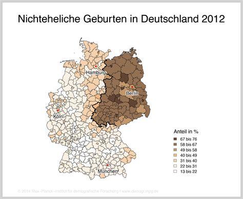 MPIDR  Nichteheliche Geburten Deutschland auf Dauer geteilt