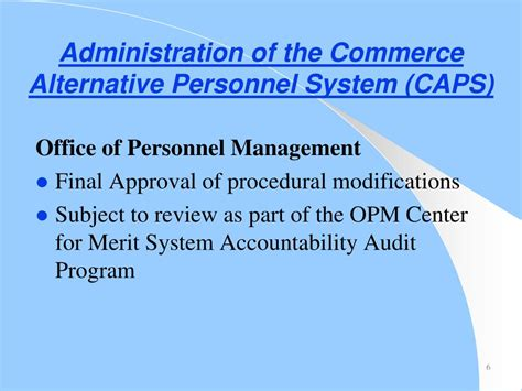 Department Of Commerce Alternative Personnel System