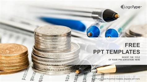 coins  financial statement powerpoint templates