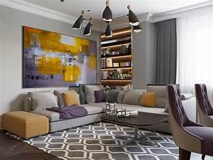 Tableau Salon Design : salon avec tableau color ~ Teatrodelosmanantiales.com Idées de Décoration