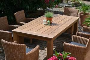 Rattan Sitzgruppe Garten : teak sitzgruppe garten garnitur tisch 200x100 und 6 sessel st hle rattan und recyceltes teak ~ Markanthonyermac.com Haus und Dekorationen