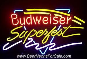 Budweiser Superfest Neon Beer Bar Sign Light
