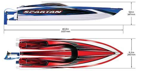 traxxas spartan brushless race boat