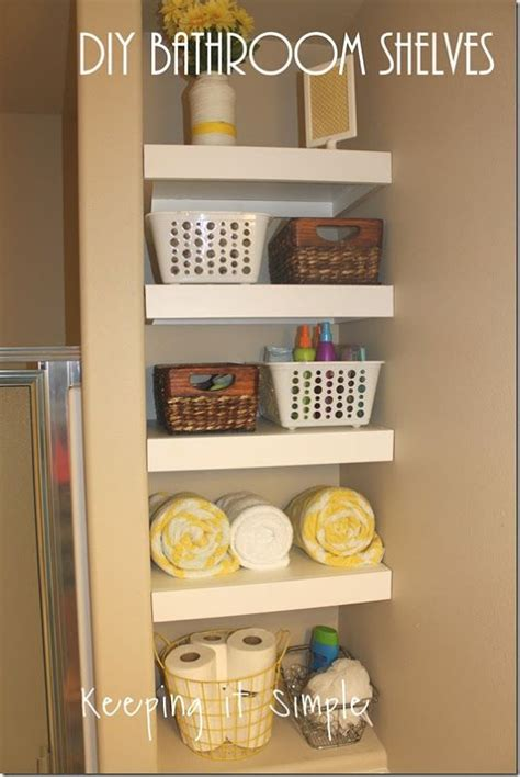 How To Make Storage In A Small Bathroom by Small Bathroom Storage Solution Diy Shelves Easy