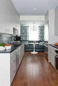 amenagement et decoration sympa pour ce bel appartement de With petite cuisine en longueur