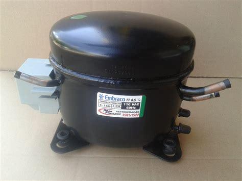 motor compressor embraco 1 4 127v geladeira freezer r134a r 210 00 em mercado livre