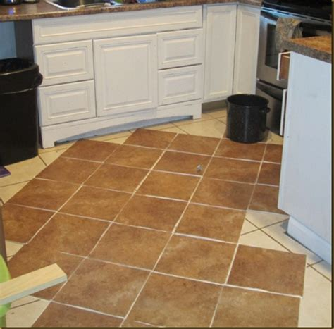 groutable self stick tile how i tiled my floors on the cheap trafficmaster