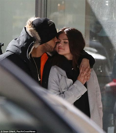 The Weeknd gives Selena Gomez a kiss on the cheek | Daily ...