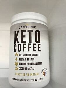 Only 3g net carbs in every bar formulated to reduce blood sugar impact 100% vegan! CafeGenix Keto Instant Coffee Coconut MCTs Ketogenic 08/23 | eBay
