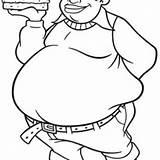 Fat Coloring Pages Boy Albert Drawing Stupid Burger Bring Getdrawings Netart sketch template