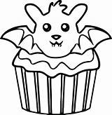 Cupcake Coloring Pages Drawing Simple Printable Cupcakes Kitty Hello Muffins Muffin Getdrawings Getcolorings Print Adult Clipartmag Cool sketch template