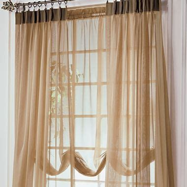 Jc Penney Curtains And Drapes - jcp home lisette pinch pleat sheer balloon shade