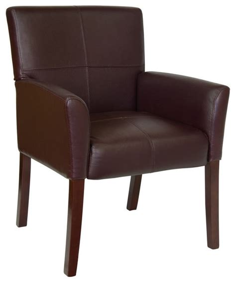 burgundy leather executive side chair reception chair