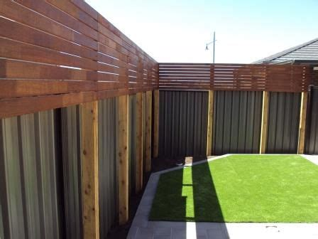 Backyard Screening Options by Hide The Colourbond Fence With Timber Screening