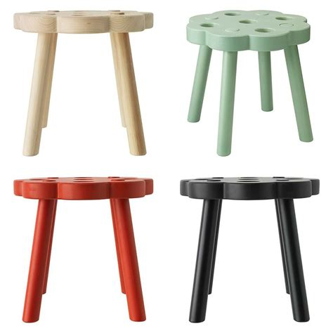 Bench Footstool by Ikea Ryssby 2014 Stool Footstool Solid Wood Black