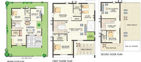 Villa Floor Plan by Keerthi Estates Builders Keerthi Richmond Villas Floor