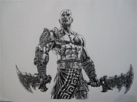 God Of War 3 Kratos Drawing By Chriluke On Deviantart