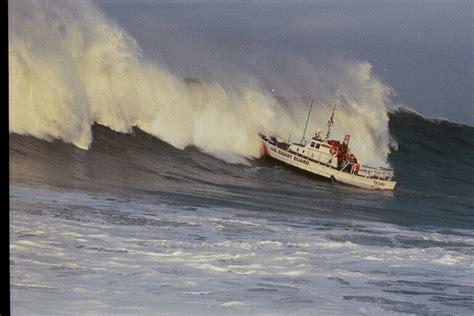 Small Boat Large Waves by Coast Guard Waves Columbia River Coast Guard Small