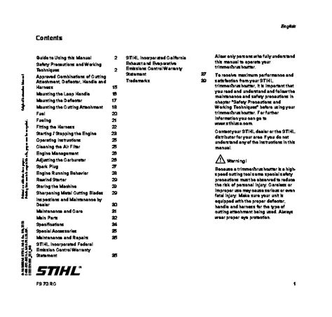 stihl fs  manual