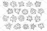 Explosion Cartooned Explosions sketch template