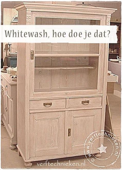 kast oude look geven kast whitewash kast verven kast meubels