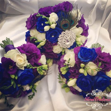 Peacock Theme Bouquets And Buttonholes Floral Creations