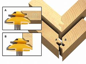 Joinery :: Glue Joint :: Miter Glue Joint :: Medium Lock