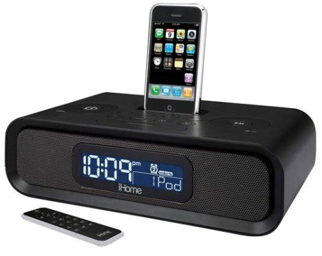 iphone clock radio ihome ip99 iphone clock radio ubergizmo