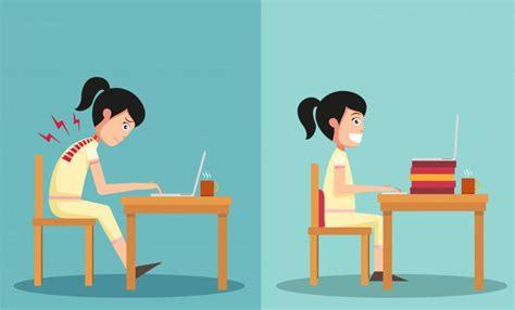 bonne position au bureau la bonne posture pour travailler devant un ordinateur