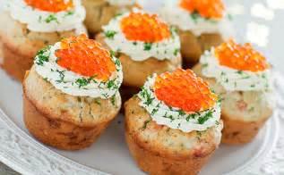 canapes aperitif originaux cupcakes salés au saumon fumé wecook