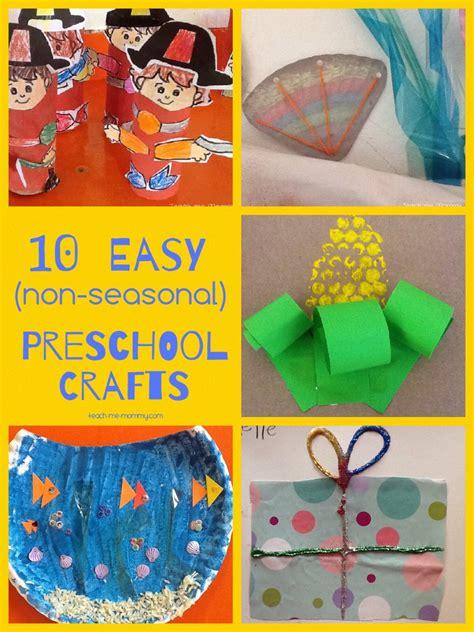 easy crafts  preschoolers teach  mommy